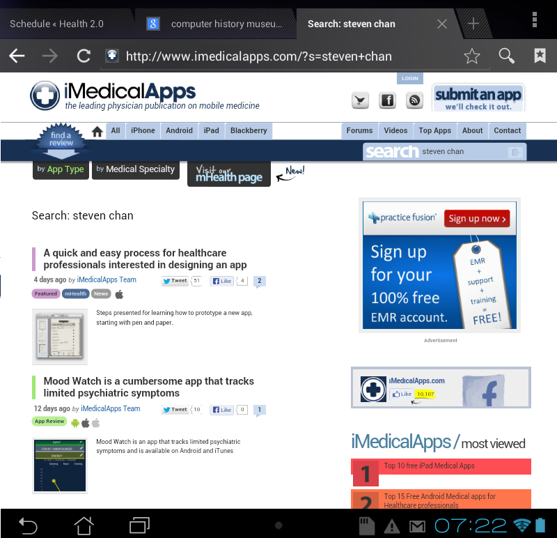 iMedicalApps website