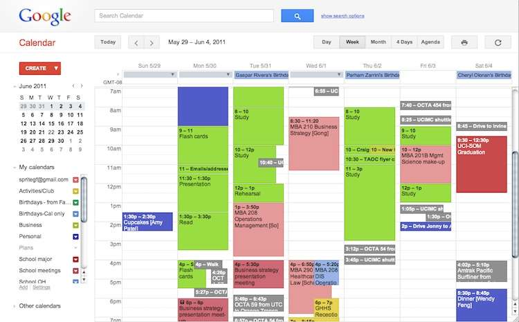 My crazy study schedule with business school and med school events at the same time @_@