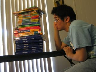 Me and the USMLE books.